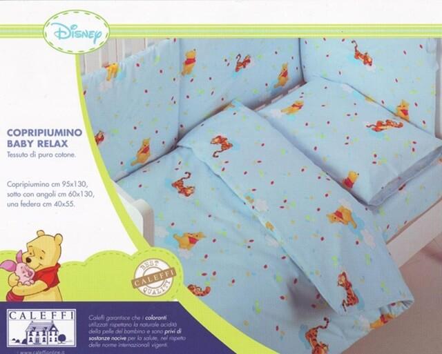 Copriletto Winnie The Pooh Caleffi.Copripiumino Per Culla Lettino Winnie The Pooh Relax Lilla