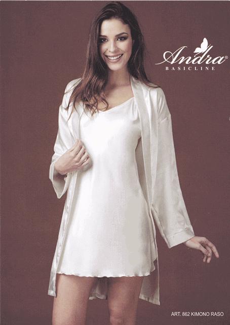 nuovo concetto 75f8e 97e40 Kimono vestaglia corta donna Andra Sposa art. 862 raso - Marini ...